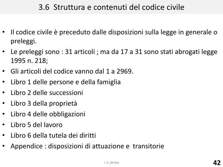 3.6  Struttura e contenuti del codice civile