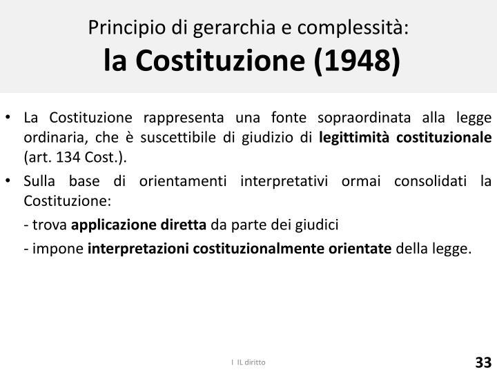Principio di gerarchia e complessità: