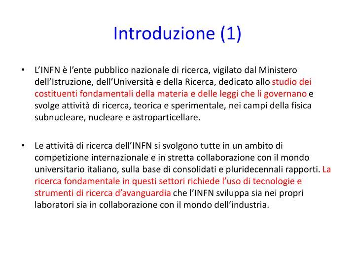 Introduzione (1)