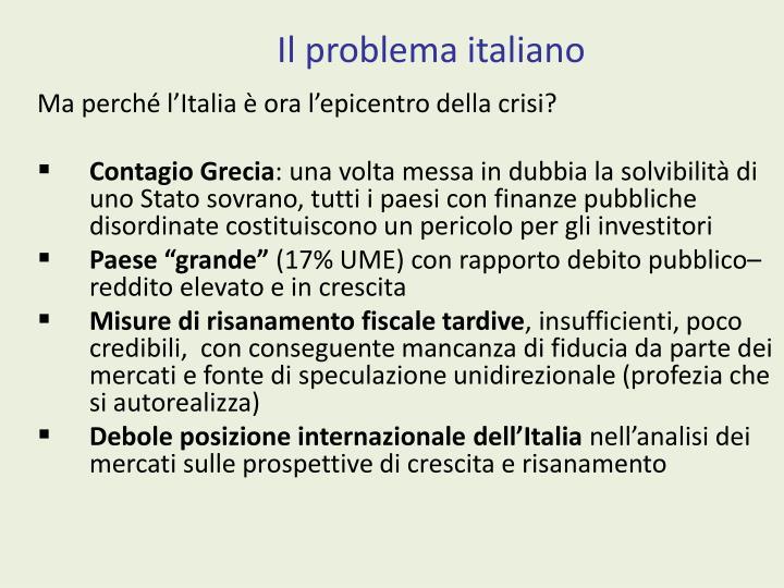 Il problema italiano