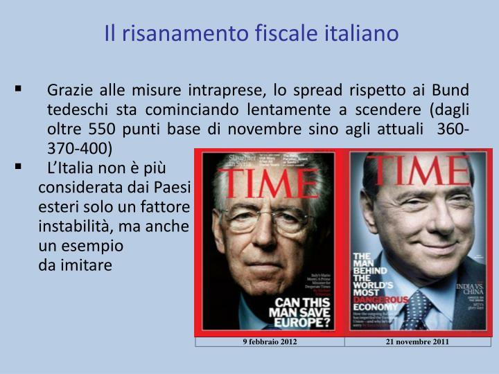 Il risanamento fiscale italiano
