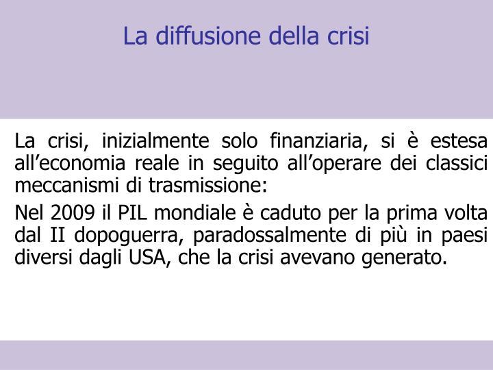 La diffusione della crisi