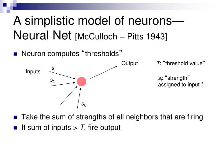 A simplistic model of neurons—