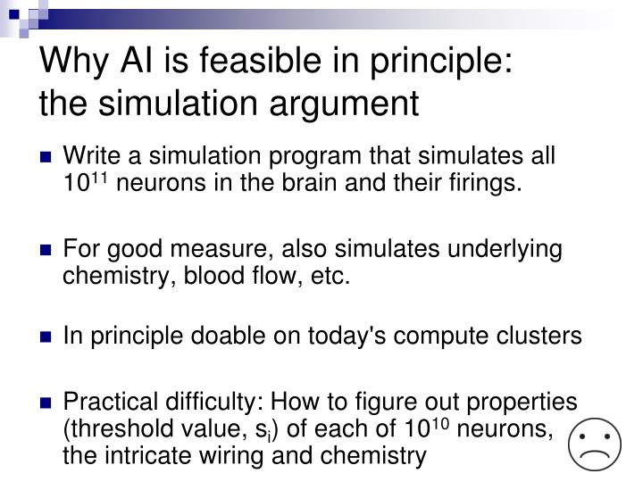 Why AI is feasible in principle: