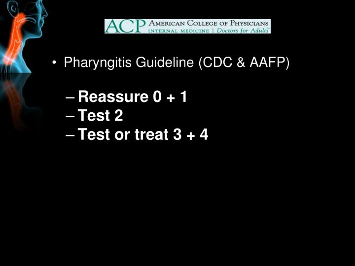 Pharyngitis Guideline