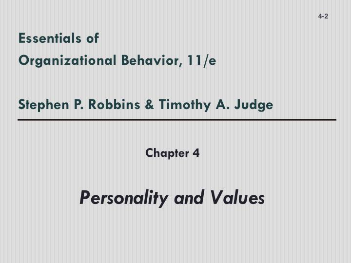 Essentials of organizational behavior 11 e stephen p robbins timothy a judge