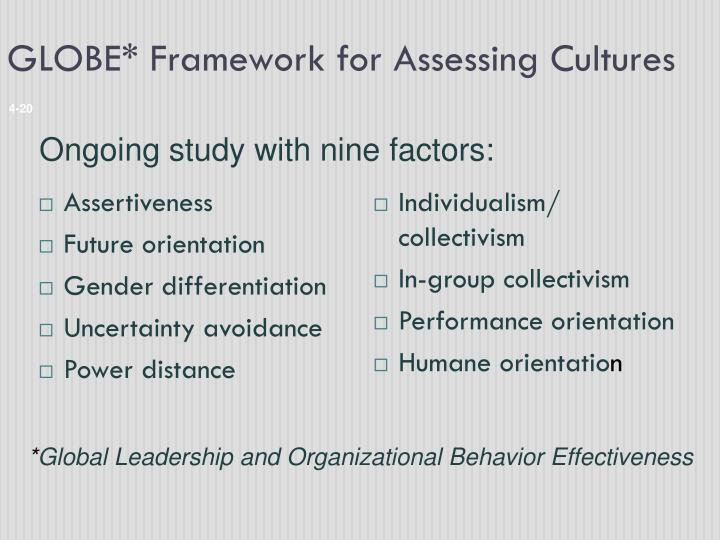 GLOBE* Framework for Assessing Cultures