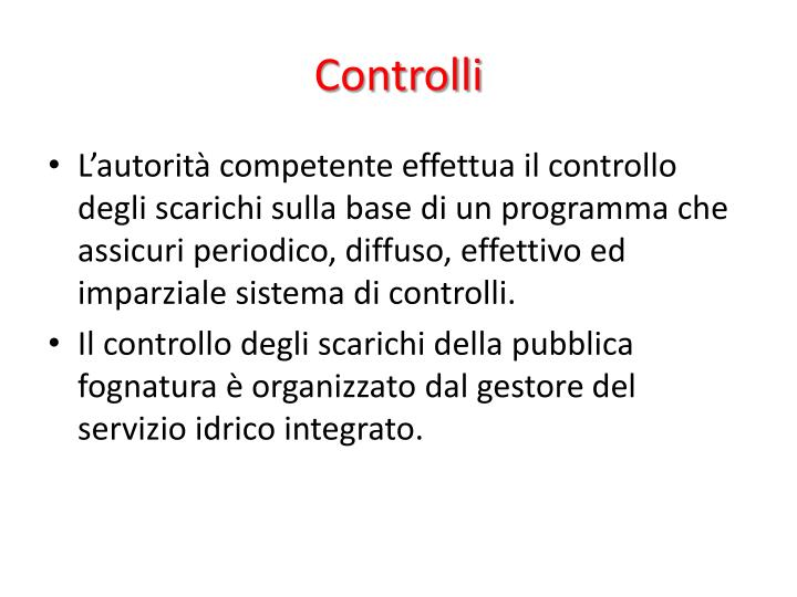Controlli