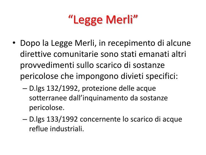 """""""Legge Merli"""""""