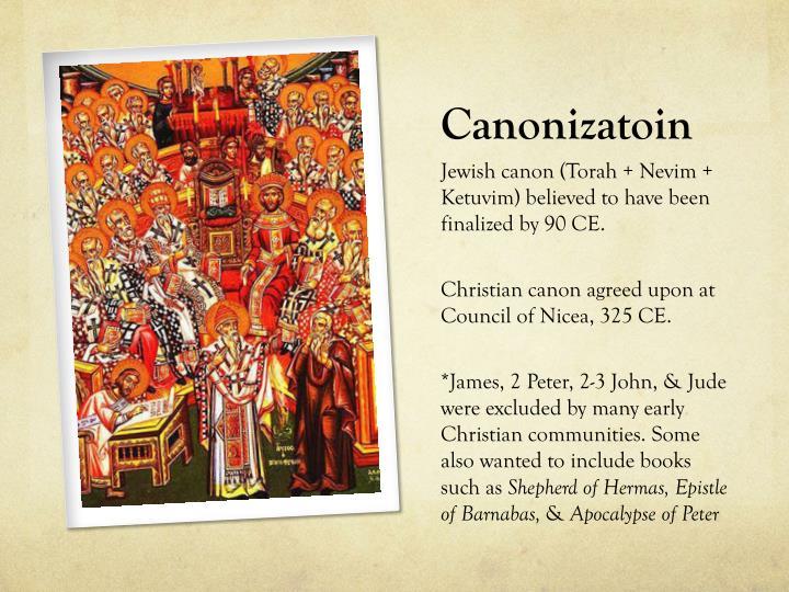 Canonizatoin