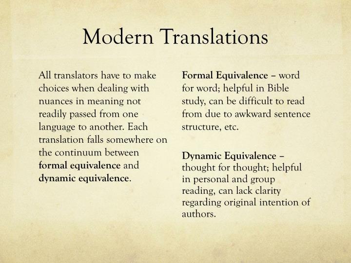 Modern Translations