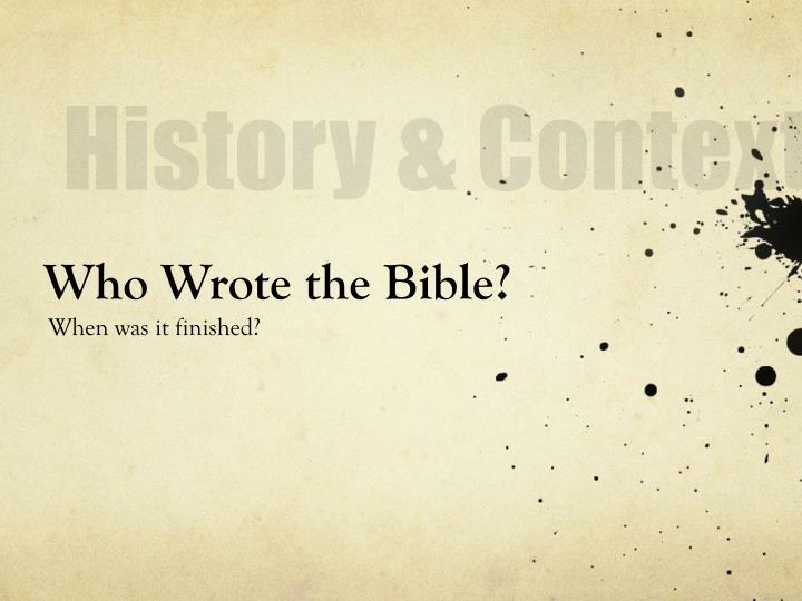 History & Context