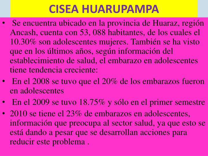 CISEA HUARUPAMPA