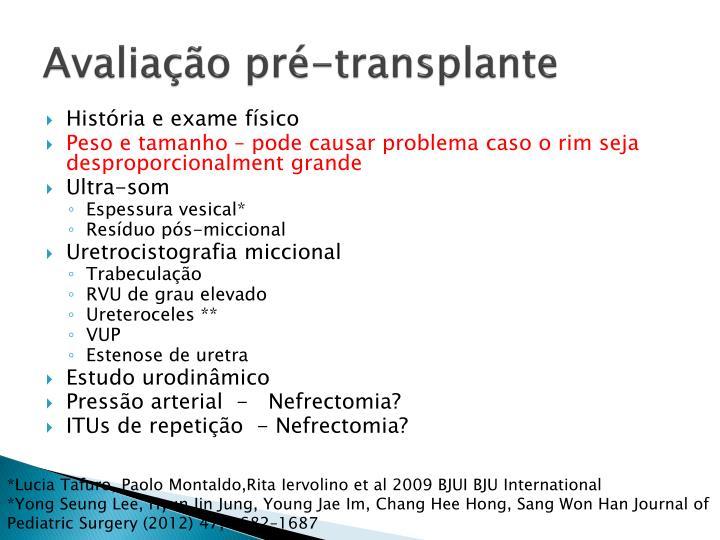 Avaliação pré-transplante