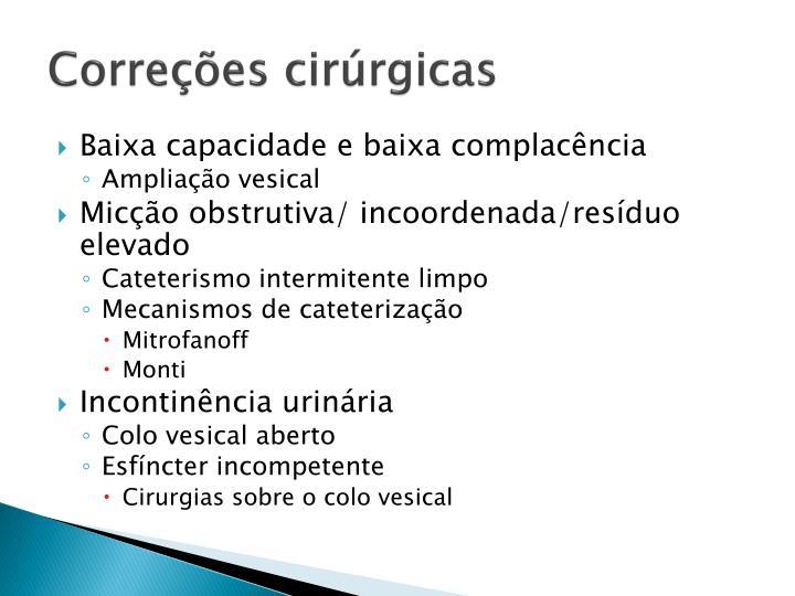 Correções cirúrgicas