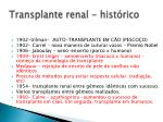 transplante renal hist rico