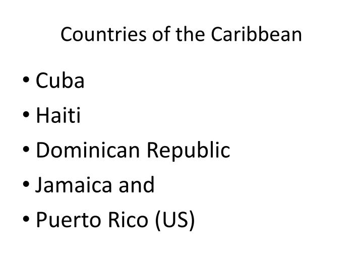 Countries of the Caribbean