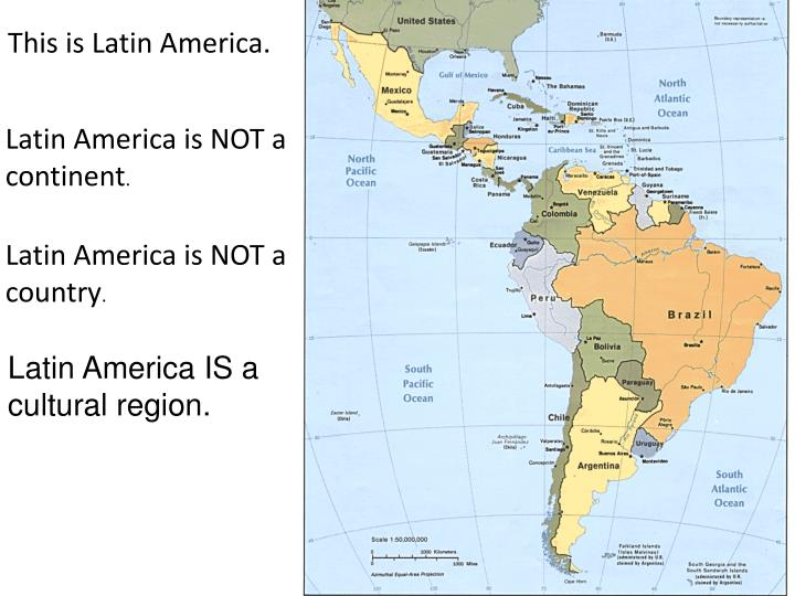 This is Latin America.