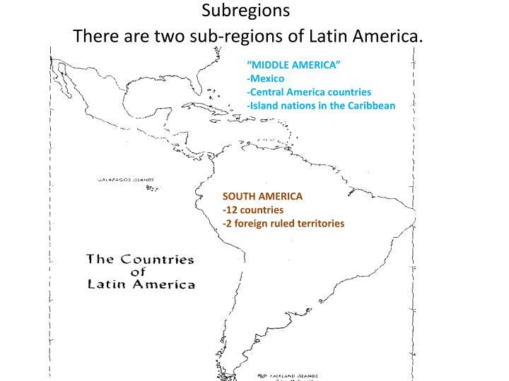 Subregions