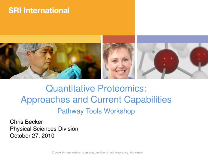 Quantitative Proteomics: