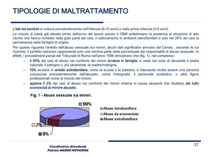 TIPOLOGIE DI MALTRATTAMENTO