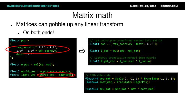 Matrix math