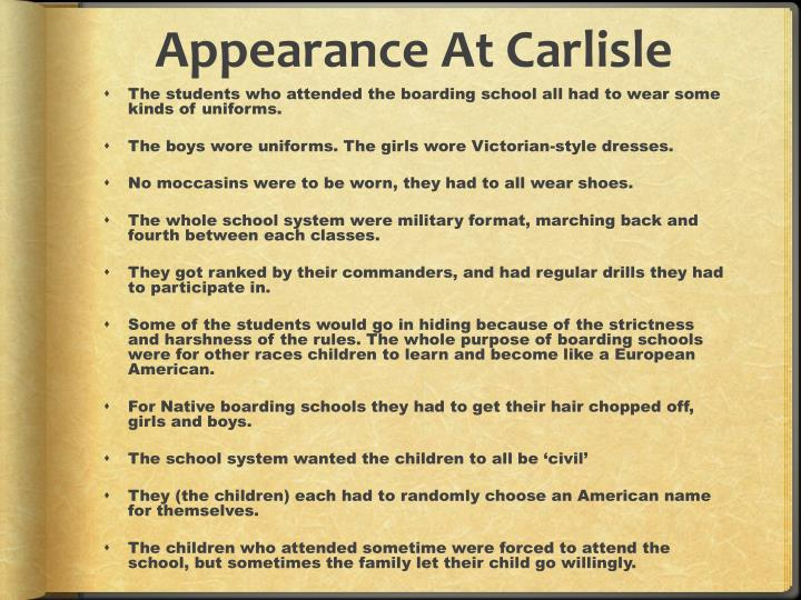 Appearance At Carlisle