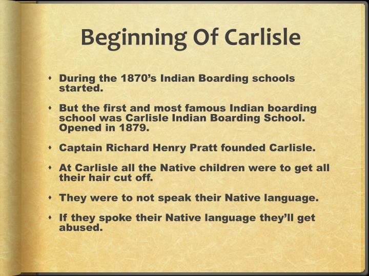 Beginning Of Carlisle