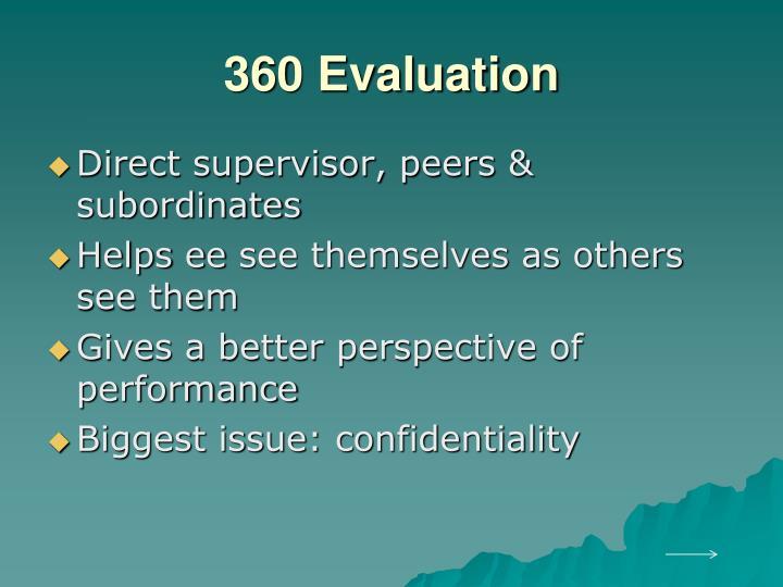 360 Evaluation