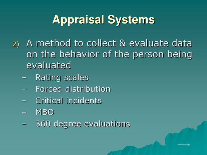 Appraisal Systems