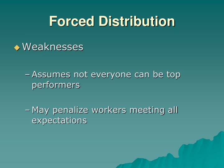 Forced Distribution