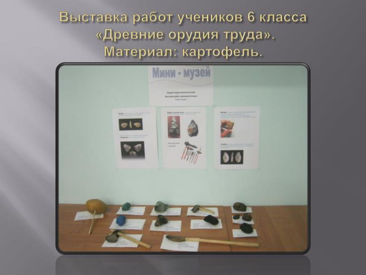 Выставка работ учеников 6 класса
