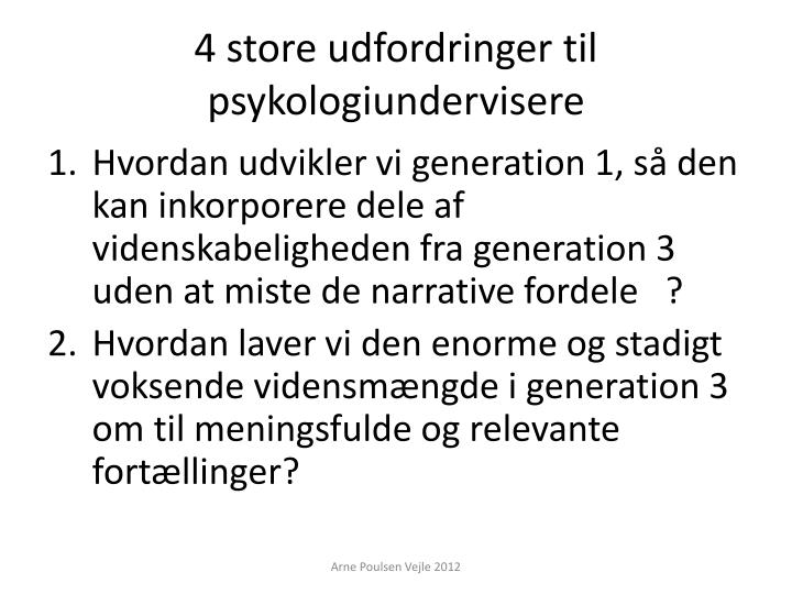 4 store udfordringer til psykologiundervisere