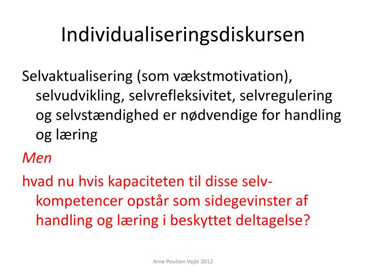 Individualiseringsdiskursen