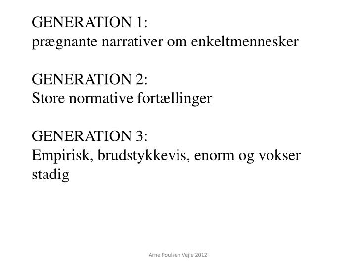 Generation 1: