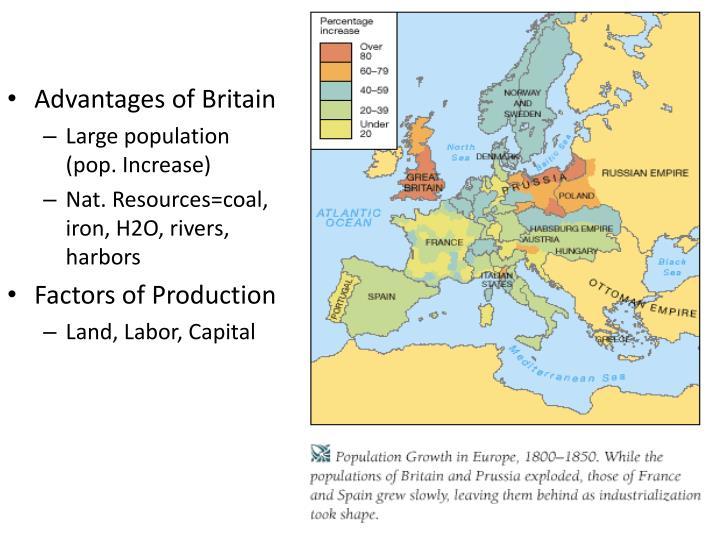 Advantages of Britain
