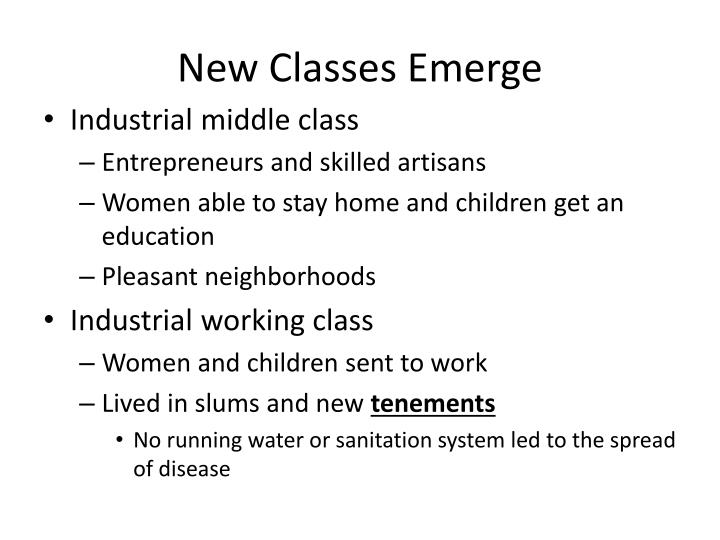 New Classes Emerge