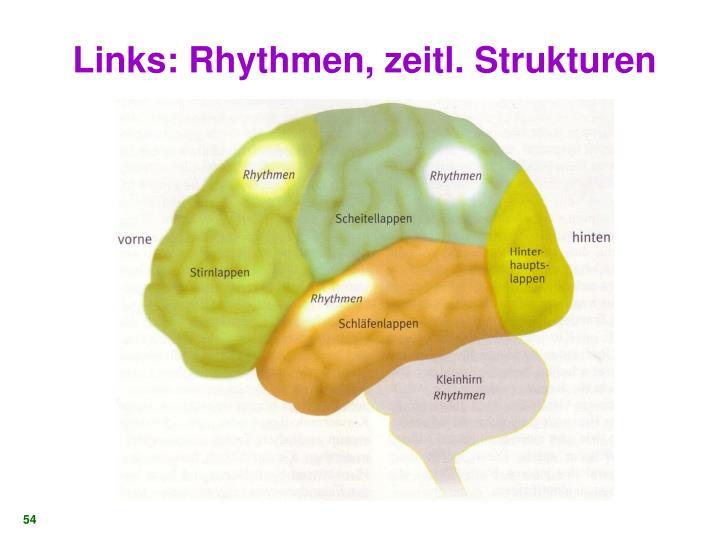 Links: Rhythmen, zeitl. Strukturen