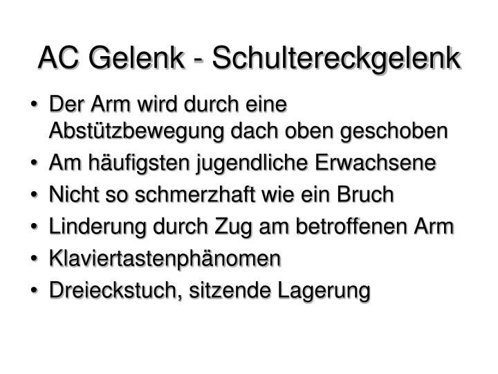 AC Gelenk - Schultereckgelenk