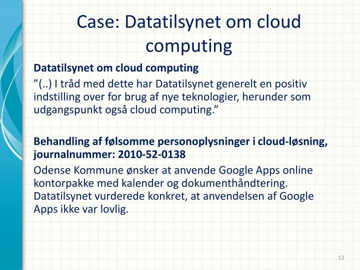 Case: Datatilsynet om