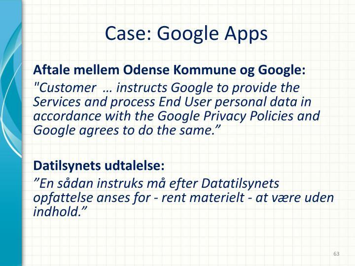 Case: Google