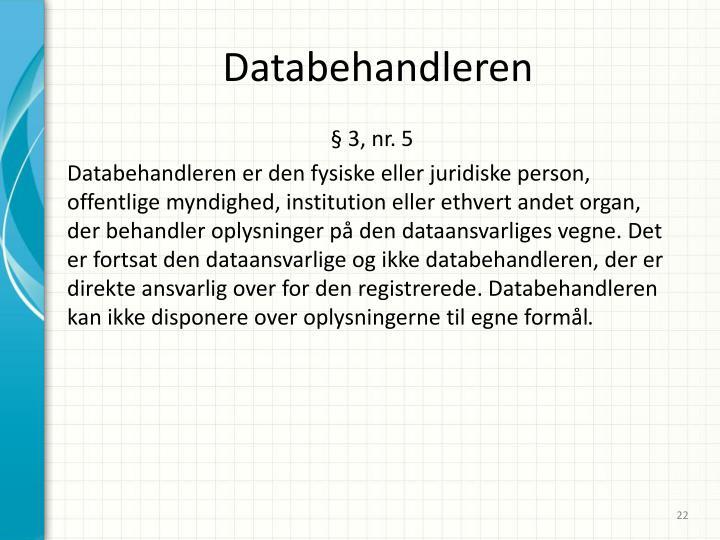 Databehandleren