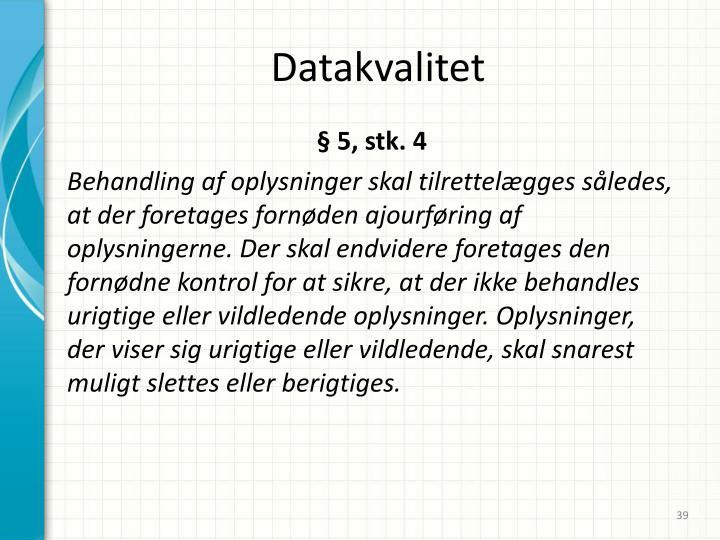 Datakvalitet