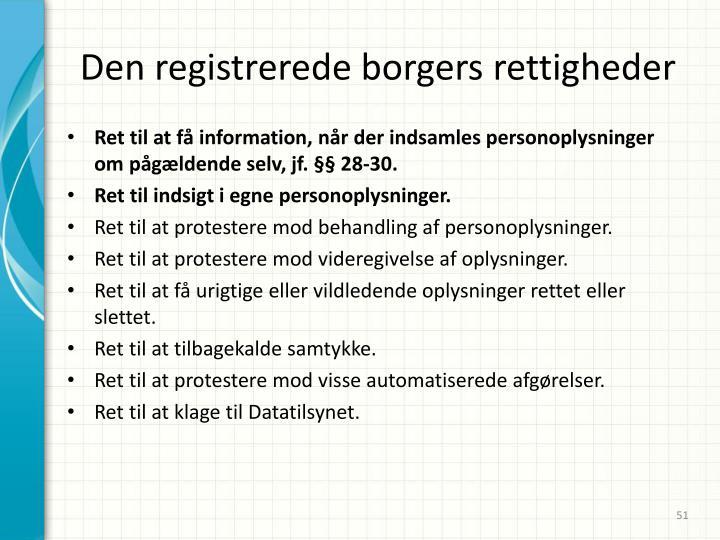 Den registrerede borgers rettigheder
