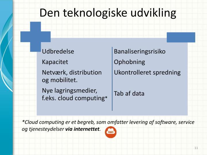 Den teknologiske udvikling