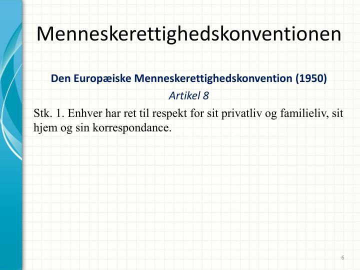 Menneskerettighedskonventionen