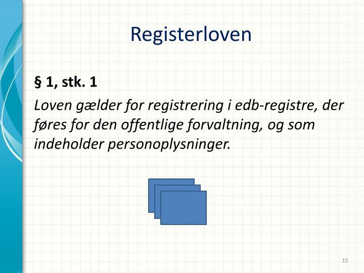 Registerloven