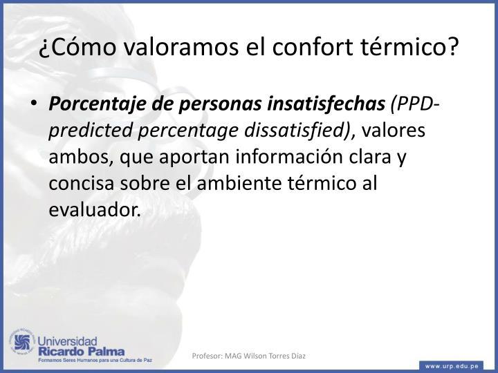 ¿Cómo valoramos el confort térmico?