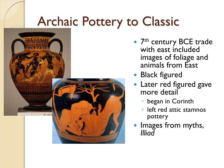 Archaic Pottery to Classic