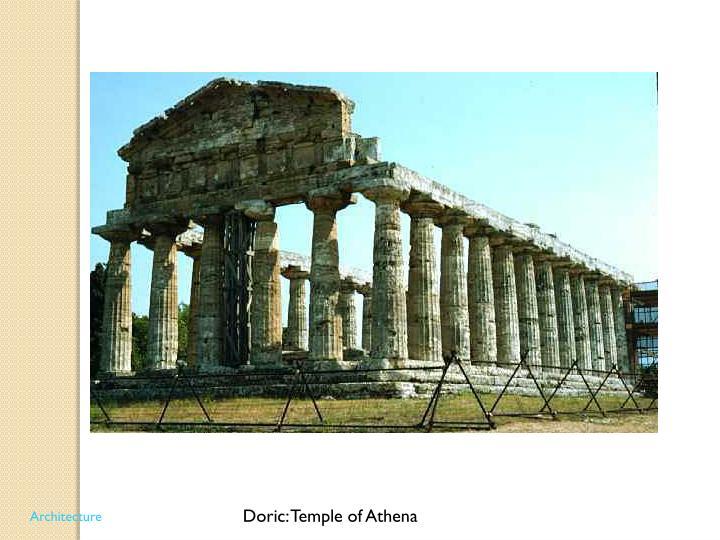 Doric: Temple of Athena